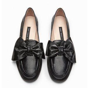 Zara🎀🐐Loafers Flat in Black Leather